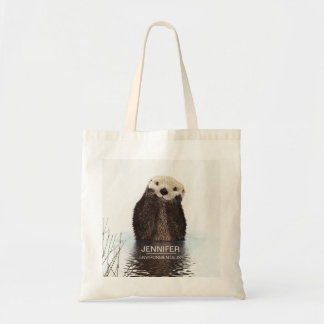 Cute Otter Wildlife Image Personalized Tote Bag