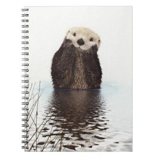 Cute Otter Wildlife Image Spiral Notebook