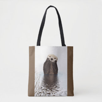 Cute Otter Wildlife Image Tote Bag