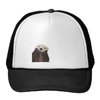 Cute otter with room to add your own text cap