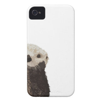 Cute otter with room to add your own text iPhone 4 covers