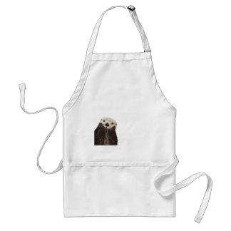 Cute otter with room to add your own text standard apron