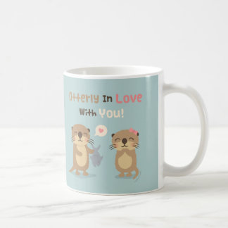 Cute Otterly in Love With You Otter Pun Mug