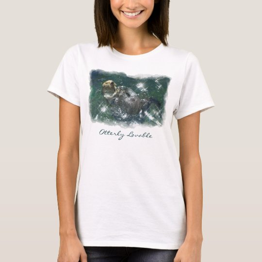 Cute Otterly Loveable Otter Photo Print Shirt