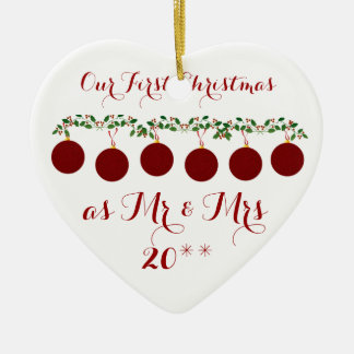 Cute Our First Christmas Together Ornament