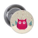 Cute owl 6 cm round badge