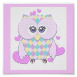Cute Owl Affisch
