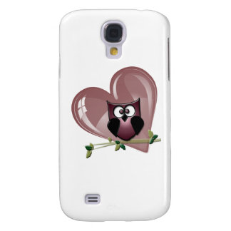 Cute Owl and Heart Gifts Galaxy S4 Case
