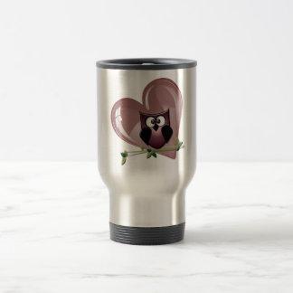 Cute Owl and Heart Gifts Travel Mug