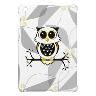 Cute Owl and Leaves iPad Mini Case