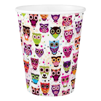 Cute owl background pattern for kids