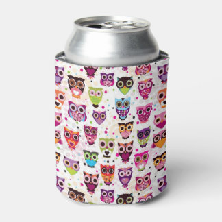 Cute owl background pattern for kids can cooler