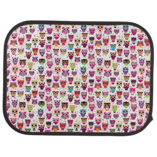 Cute owl background pattern for kids car mat