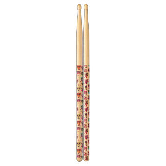Cute owl background pattern for kids drumsticks