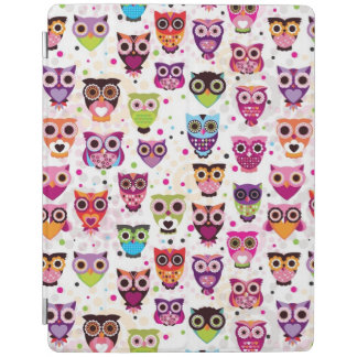 Cute owl background pattern for kids iPad cover