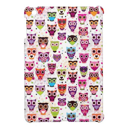 Cute owl background pattern for kids iPad mini case