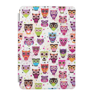 Cute owl background pattern for kids iPad mini cover