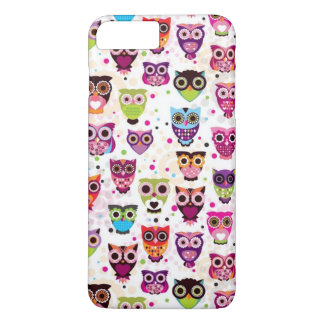 Cute owl background pattern for kids iPhone 8 plus/7 plus case