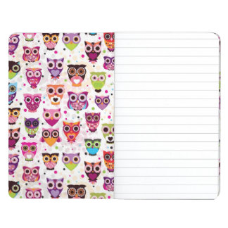 Cute owl background pattern for kids journal