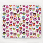 Cute owl background pattern for kids mouse mat