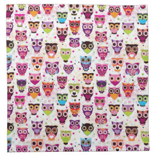 Cute owl background pattern for kids napkin