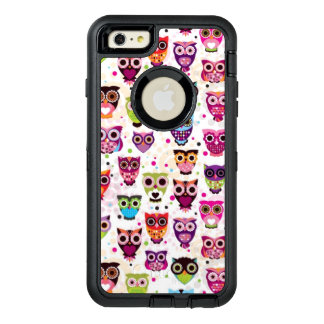Cute owl background pattern for kids OtterBox iPhone 6/6s plus case