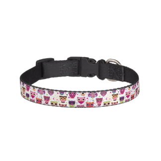Cute owl background pattern for kids pet collar