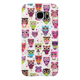 Cute owl background pattern for kids samsung galaxy s6 cases
