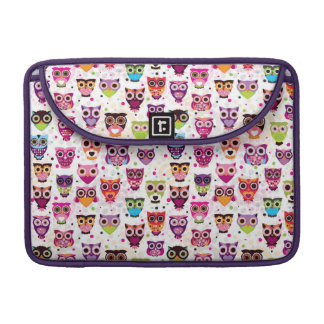 Cute owl background pattern for kids sleeve for MacBooks