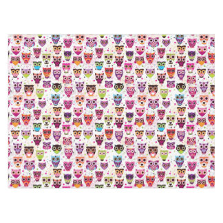 Cute owl background pattern for kids tablecloth