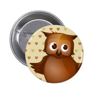 Cute Owl Pinback Buttons
