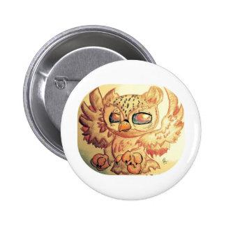 Cute Owl Pinback Button