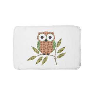 Cute Owl Bath Mat