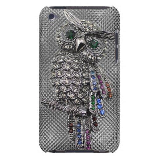 cute owl bling iPod Case-Mate case