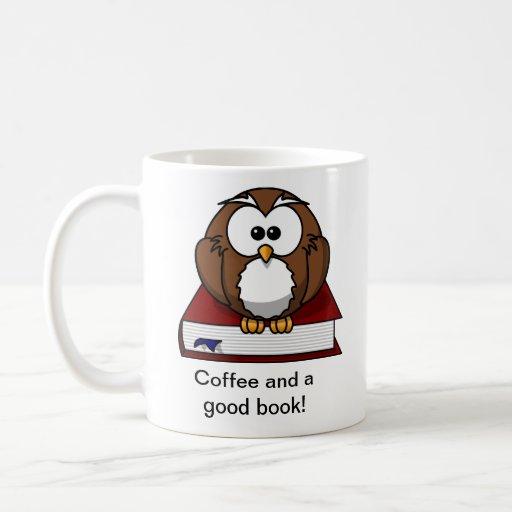 Cute Owl Book Mug Mug