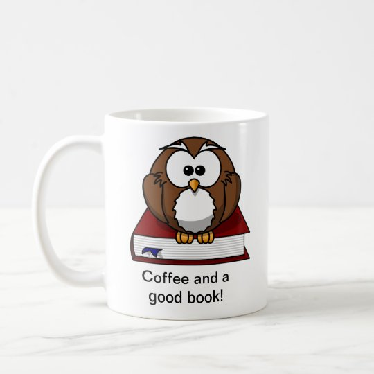 Cute Owl Book Mug