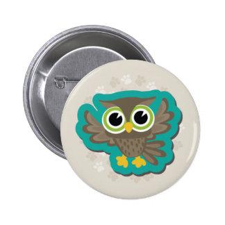 Cute Owl Button Badge
