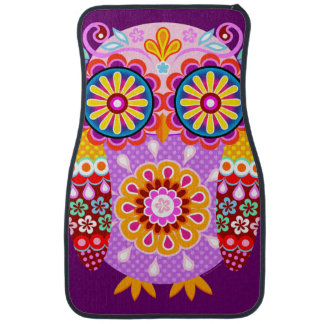 Cute Owl Car Mats - Set of 2 Front Mats Car Mat