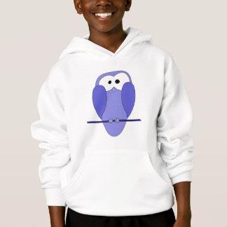 Cute Owl Cartoon. Blue.