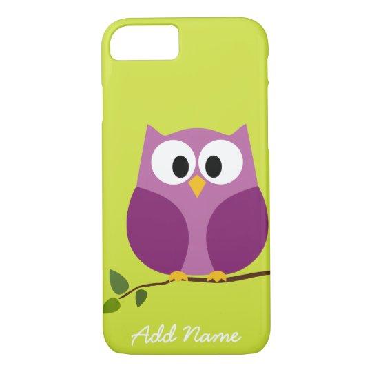 Cute Owl Cartoon Custom iPhone 7 Case