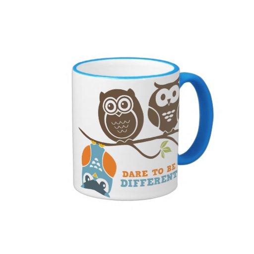 Cute Owl Cartoon Dare To Be Different Mug