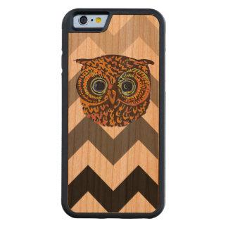 cute owl carved cherry iPhone 6 bumper case