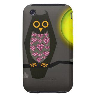 Cute Owl Tough iPhone 3 Case