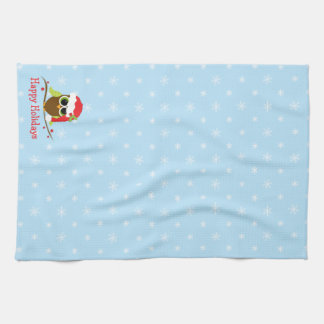 Cute Owl Christmas Kitchen Towel