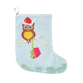 cute owl Christmas Stocking