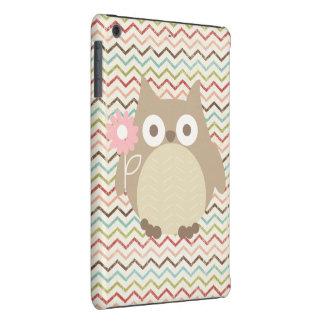 Cute Owl Colorful Modern Chevron Pattern iPad Mini Cover