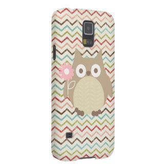 Cute Owl Colorful Modern Chevron Pattern Galaxy S5 Cases