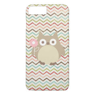 Cute Owl Colorful Modern Chevron Pattern iPhone 7 Plus Case