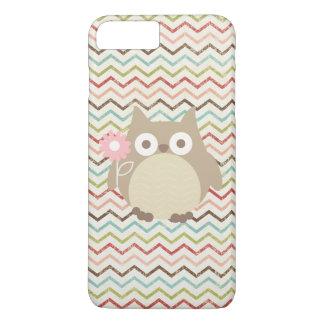 Cute Owl Colorful Modern Chevron Pattern iPhone 7 Plus Case