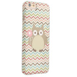 Cute Owl Colourful Modern Chevron Pattern Barely There iPhone 6 Plus Case